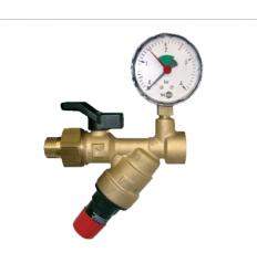 System Fill Valve 2128 DN20 1-5bar 80 st + pressure gauge