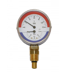 WP 80 R 120/1.0 MPa Lower Mount Thermomanometer